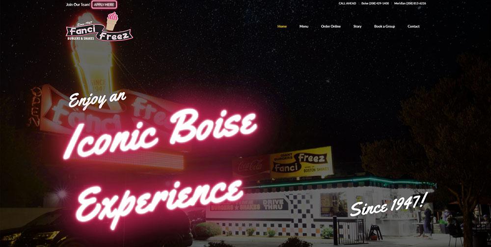 Fanci Freeze home page